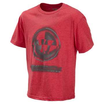 Youth Stencil Tee, Formula One Red