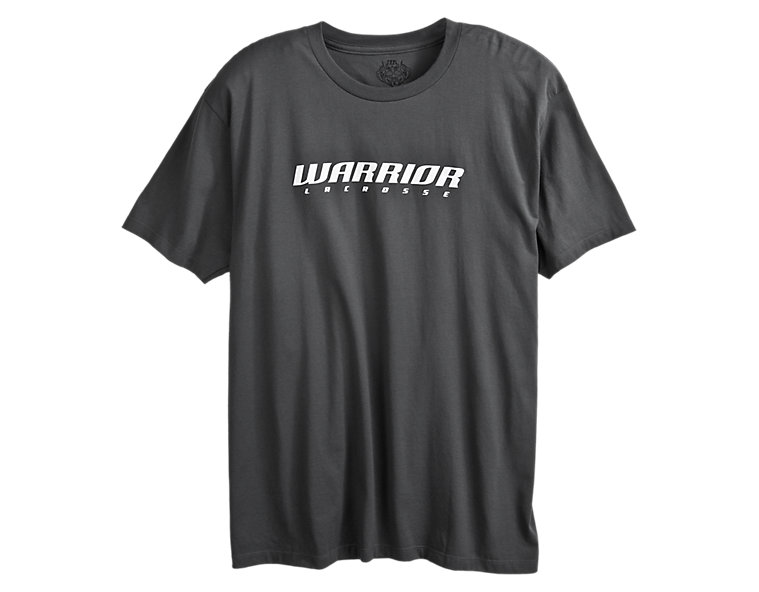 Lax Logo Tee, Charcoal with White