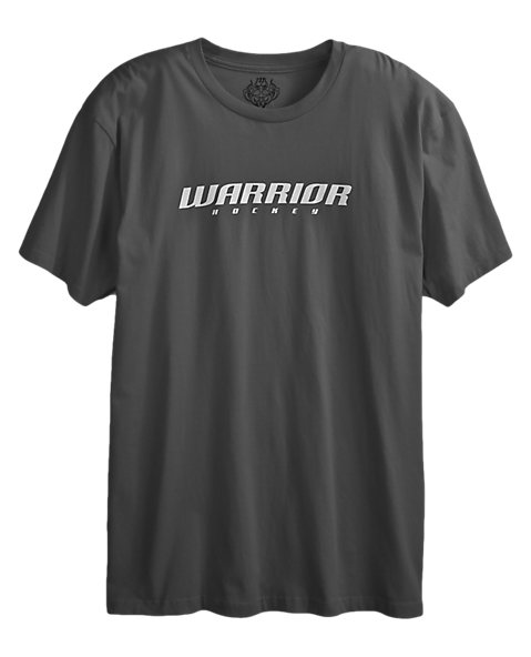Hockey Logo Tee, Charcoal with White