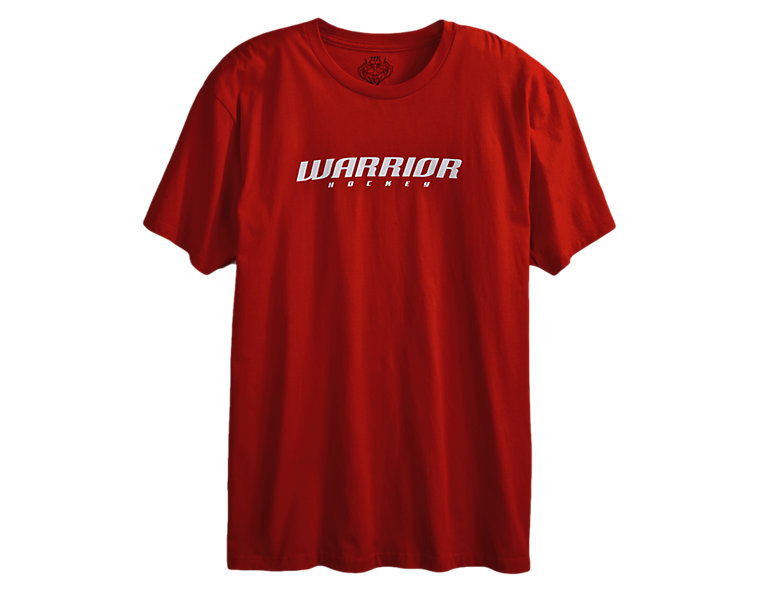 Hockey Logo Tee, Formula One Red with White