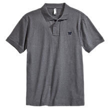Heritage Polo, Dark Heather Grey with Black