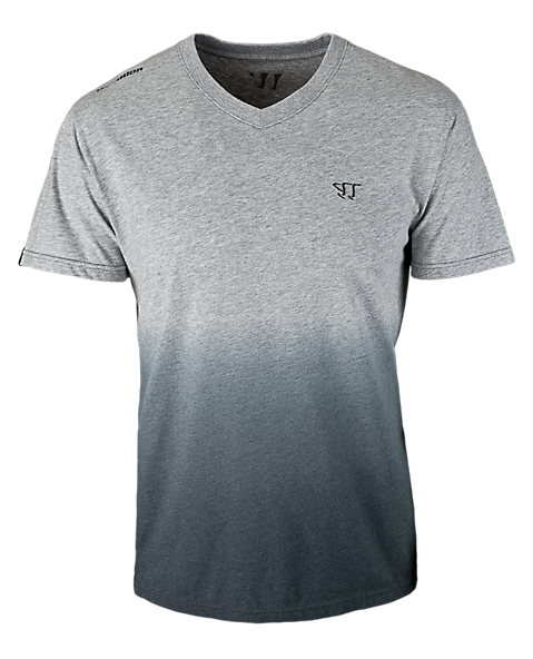 V-Neck 50/50 Fade Tee, Athletic Grey