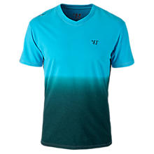 V-Neck 50/50 Fade Tee, Kinetic Blue
