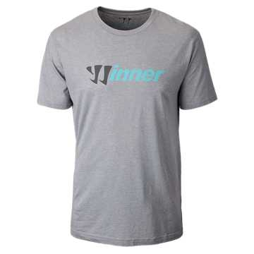 Winner 50/50 Tee, Athletic Grey