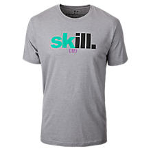 Skill 50/50 Tee, Athletic Grey