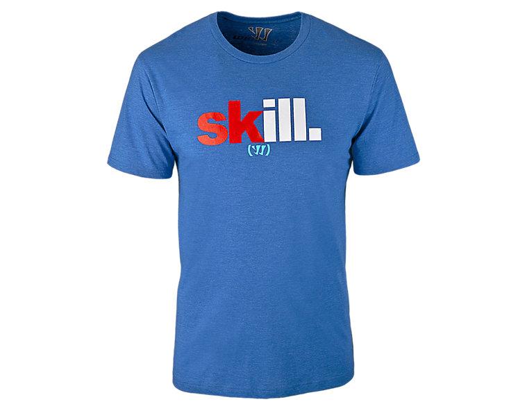 Skill 50/50 Tee, Blue
