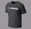 Rabil Stripe Tee, Black with Heather Charc