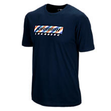 Rug Stripe Lax Tee, Navy