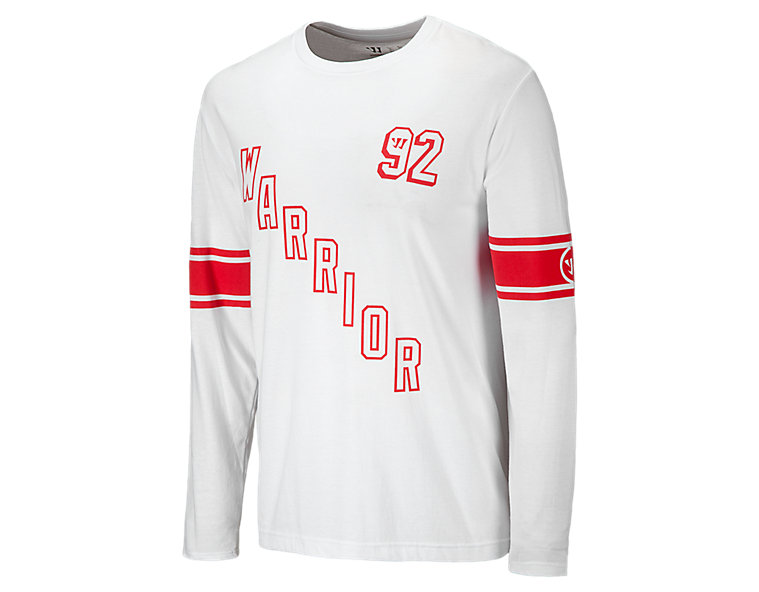 Ladder 50/50 LS Tee, White