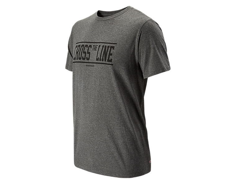 Cross the Line 50/50 Tee, Dark Heather Grey