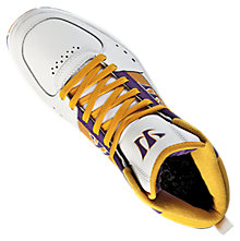 Hound Dog Classic, White with Purple & Gold