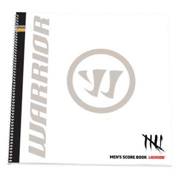 Men's Lacrosse Scorebook , Black