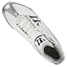 Shooter Cleat, Silver with White