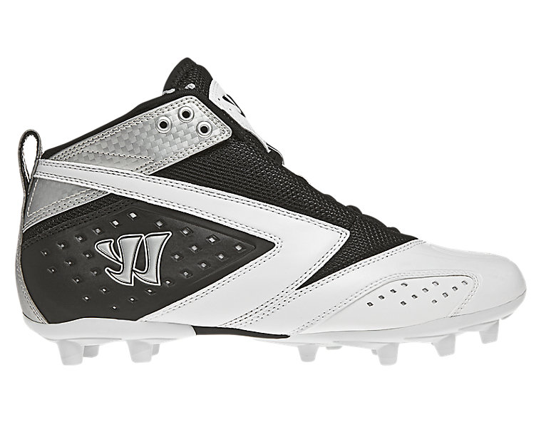 Burn 2nd Degree Cleat, Black with White & Silver