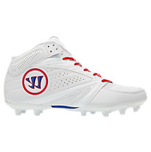 Second Degree 3.0 Cleat, White with Blue & Red