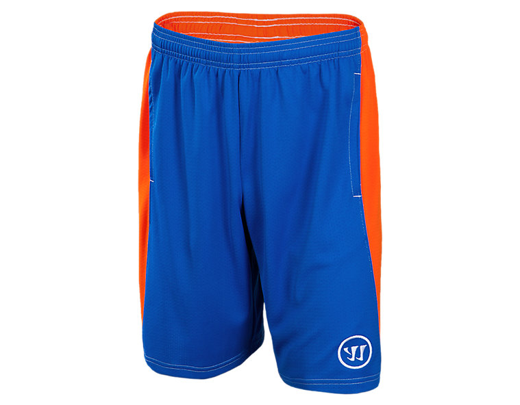 Youth Varsity Short, Blue with Orange
