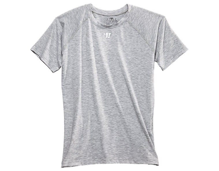 Youth SS Tech Tee, Heather Grey