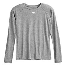 Youth LS Tech Tee, Heather Grey