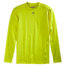 Basic LS Compression Top, Neon Yellow