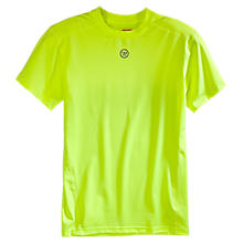 Basic SS Compression Top, Neon Yellow