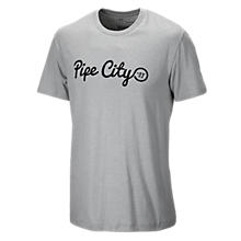 Pipe City 50/50 Tee, Athletic Grey