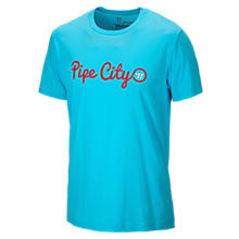 Pipe City 50/50 Tee, Blue Atoll