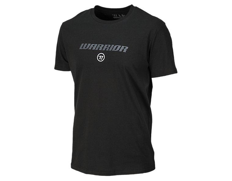 Warrior Logo Tee, Black