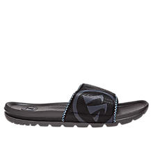 Burn Slide Sandal, Black with Grey & White