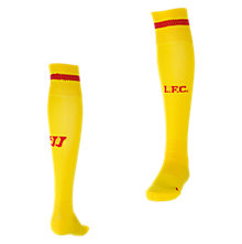 Liverpool Away Sock 2014/15, Yellow with Red