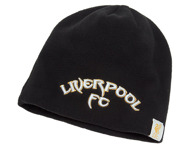LFC Kop Fleece Beanie, Black