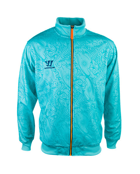 Skreamer Training Track Jacket, Blue Radiance with Insignia Blue & Bright Marigold