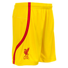 LFC Away Junior Short, Cyber Yellow with High Risk Red