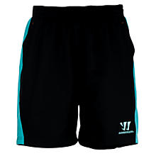 Skreamer Training Woven Short, Black with Blue Radiance