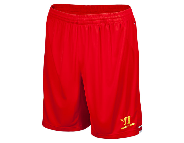 Liverpool Home Short 2013/14, High Risk Red with White & Amber Yellow
