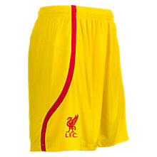 LFC Away Short, Cyber Yellow with High Risk Red