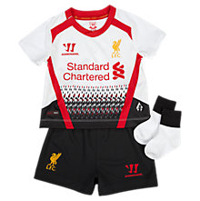 Liverpool Away Baby Kit - Set 2013/14, White with Black & High Risk Red