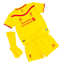Liverpool Away Infant Set 2014/15, Yellow with Red