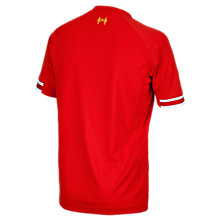 Liverpool Home Junior Short Sleeve Jersey 2013/14, Red with White & Yellow