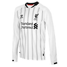 Liverpool Home Jr. Goal Keeper LS Jersey 2013/14, White with Anthracite
