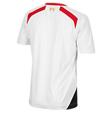 Liverpool Away Junior Short Sleeve Jersey 2013/14, White with Grey & Red