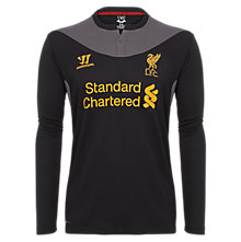 Away Long Sleeve Jersey 2012/13, Black with Raven Grey