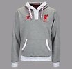 LFC Hoody, Grey with White & High Risk Red