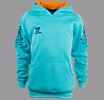 Skreamer Training Hoody O'head, Blue Radiance with Insignia Blue & Bright Marigold