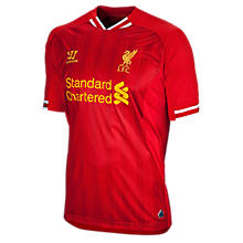 Liverpool Home Short Sleeve Jersey 2013/14, High Risk Red with White & Amber Yellow