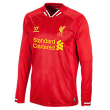 Liverpool Home Long Sleeve Jersey 2013/14, High Risk Red with White & Amber Yellow