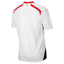Liverpool Away Short Sleeve Jersey 2013/14, White with Anthracite & High Risk Red