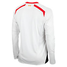 Liverpool Away Long Sleeve Jersey 2013/14, White with Anthracite & High Risk Red