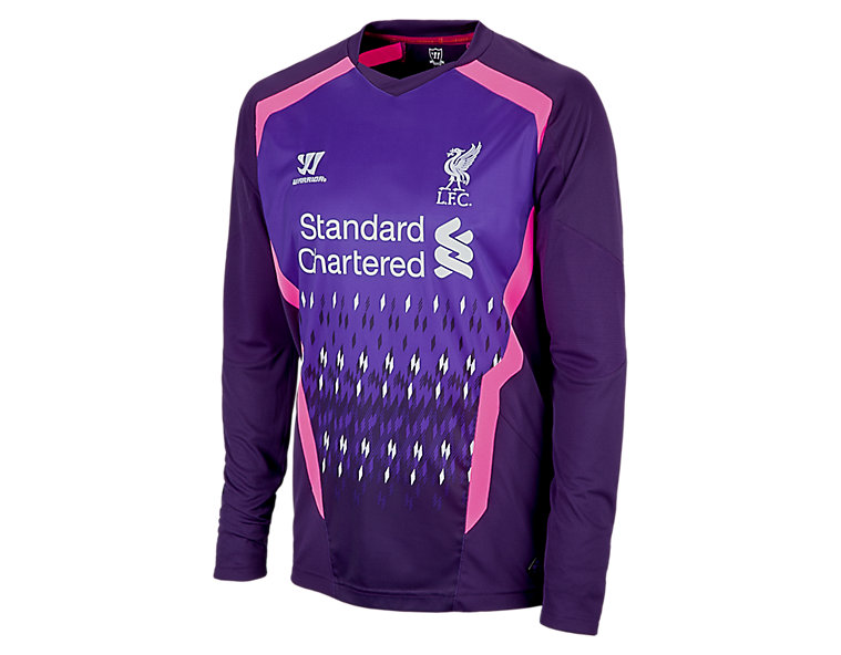 Liverpool Away Goalkeeper LS Jersey 2013/14, Blackberry Cord with Prism Violet & HI-Viz Pink