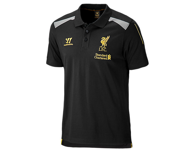 Liverpool Training Polo Shirt 2013/14, Anthracite with Silver Filigree