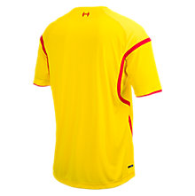 Liverpool Away Short Sleeve Jersey 2014/15, Cyber Yellow with High Risk Red